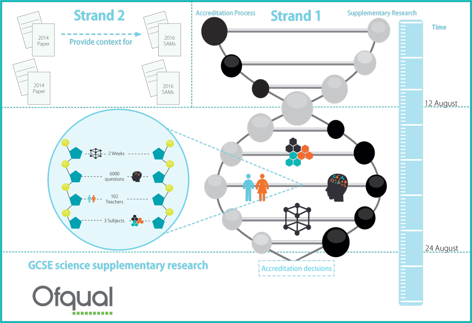 Image showing strands and timescales of GCSE supplementary research