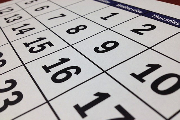 Image of a calendar